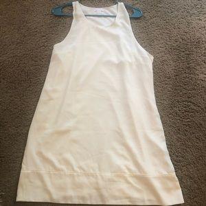 Leith cream sleeveless dress